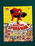 1992 Marvel Comics Look And Find The Amazing Spiderman Book - Great Condition
