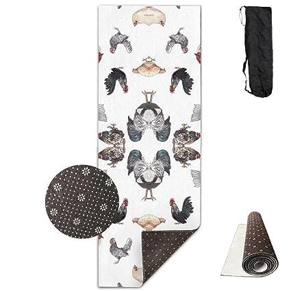 Amazon.com: Chicken Happy,Yoga Mat Made to Measure,Yoga ...