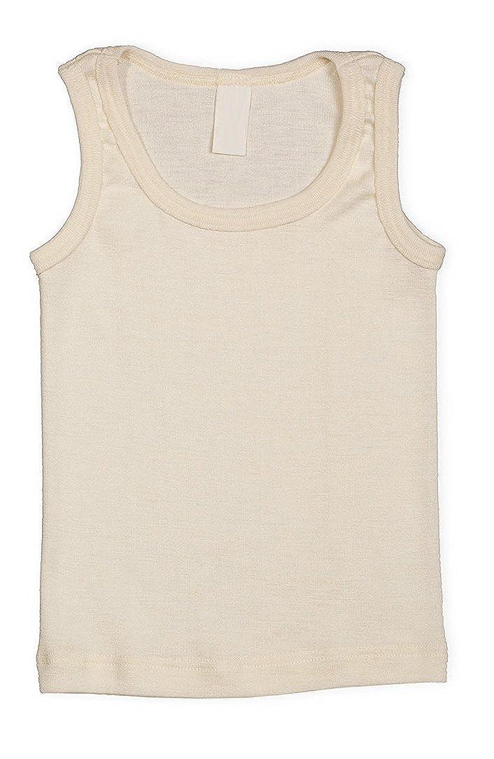 EcoAble Apparel Kids Sleeveless Thermal Shirt Base Layer or Pajama Top, Organic Merino Wool Silk, Sizes 2-10 years Engel