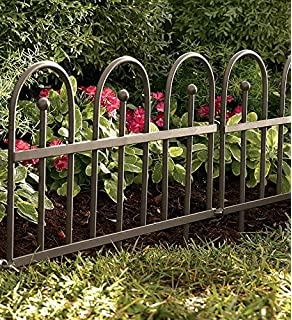 Amazoncom Amagabeli Rustproof Folding Metal Garden Border Fence