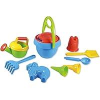 Lena 05420 - Happy Sand speelset voor jongens I, zandspeelgoed 10-delig voor kinderen vanaf 2 jaar, strandspeelgoed met…