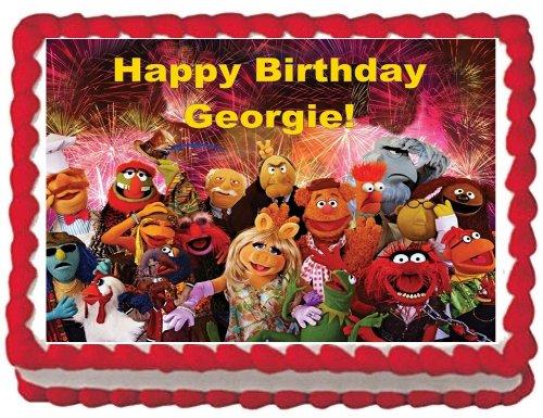 Muppets Comestible Decoración Para Tarta para 1/4 Hoja de ...