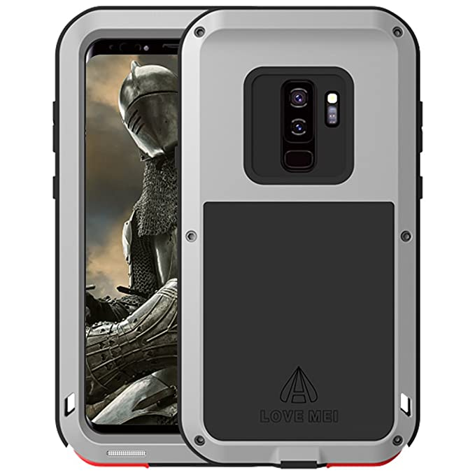 buy popular b0e46 049c4 Samsung Galaxy S9 Plus Case,Meiya Aluminum Metal Gorilla Extreme Shockproof  Hard Case Military Heavy Duty Protection Cover Protector for Samsung ...