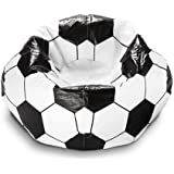96-Inch Soccer Ball Lightweight Polystyrene Bead Vinyl Sports Bean Bag Chair, Dimensions 28Hx28Wx28D