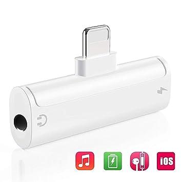 Adaptador de auriculares para iPhone 7 Adaptador cargo del ...