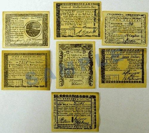 Replica Colonial Banknote Set B ()