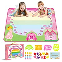 "GMAOPHY Aqua Magic Doodle Mat for Kids 35"" x 27.5"" Water Painting Drawing Doodling..."