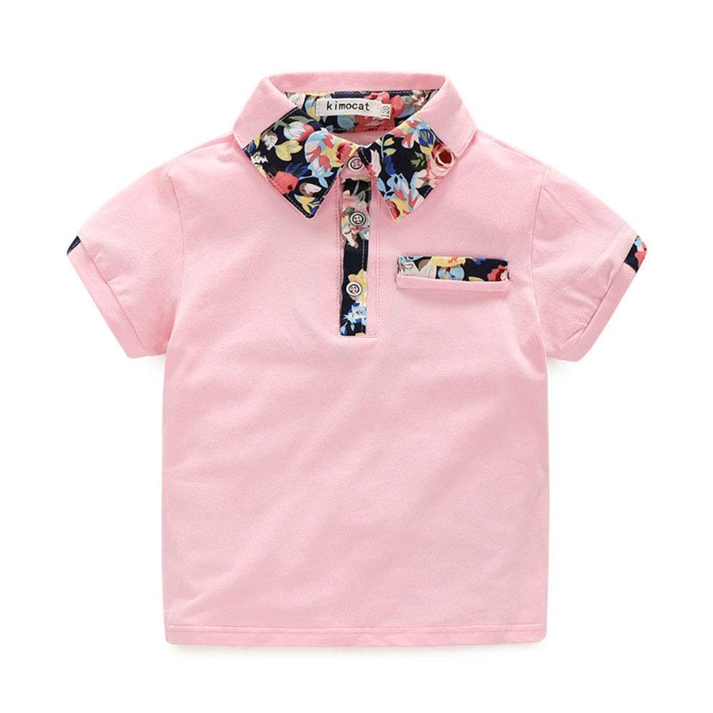 Summer Casual Baby Boys Clothing Set Floral Printed Short Sleeve and Short Pants