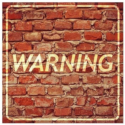 CGSignLab 12x12 Ghost Aged Brick Clear Window Cling Warning