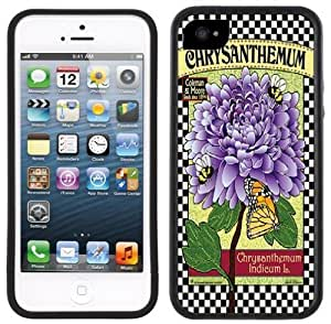LJF phone case Chrysanthemums Handmade iPhone 5 Black Bumper Plastic Case