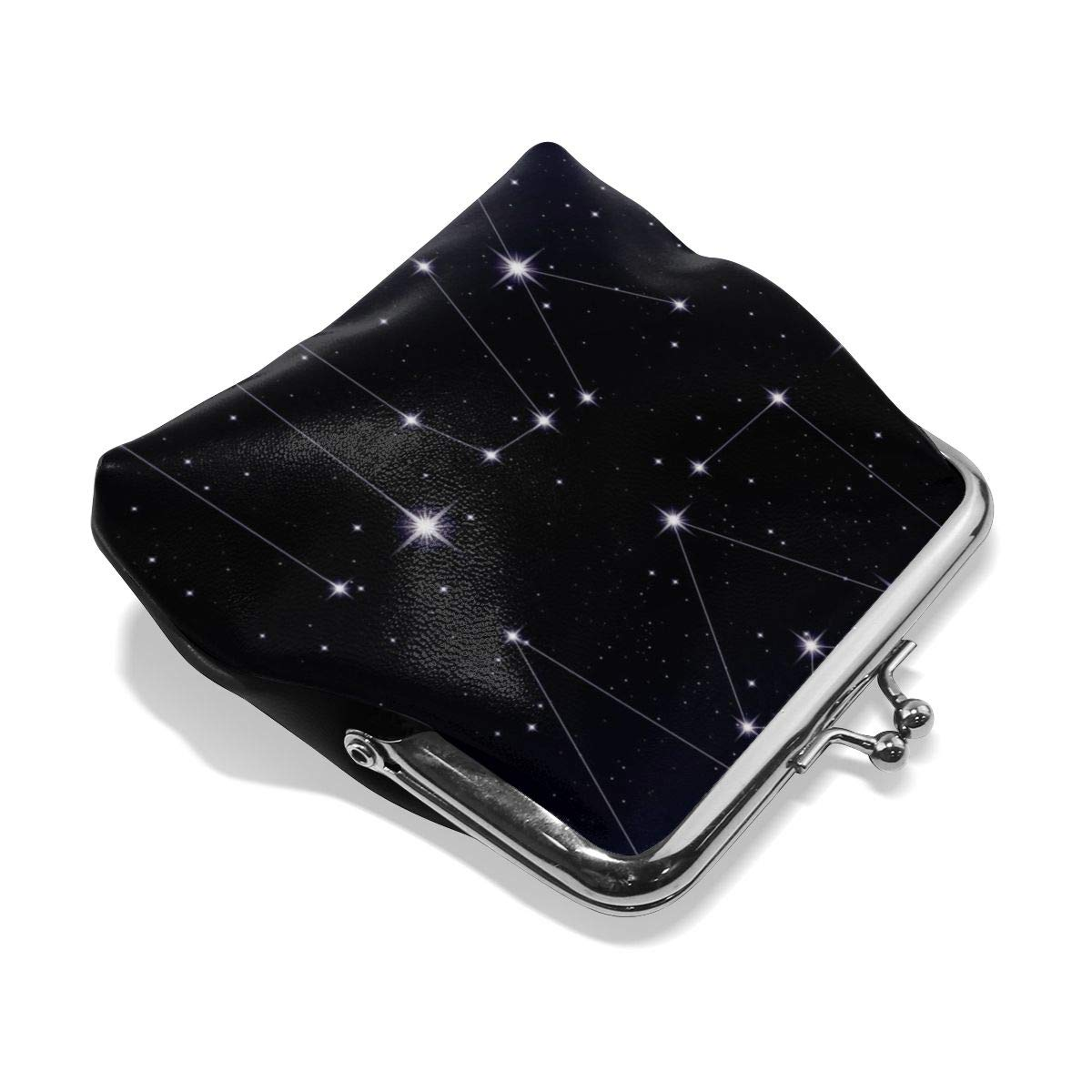 Poream Starry Love Message As Constellation Customized Retro Leather Cute Classic Coin Purse Clutch Pouch Wallet For Womens