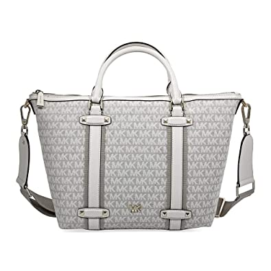 9ffad83c73 Amazon.com: Michael Kors Griffin Large Jacquard Satchel- Nat/Light Cream:  Shoes