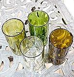 Wine Bottle Glasses (Set of 4)