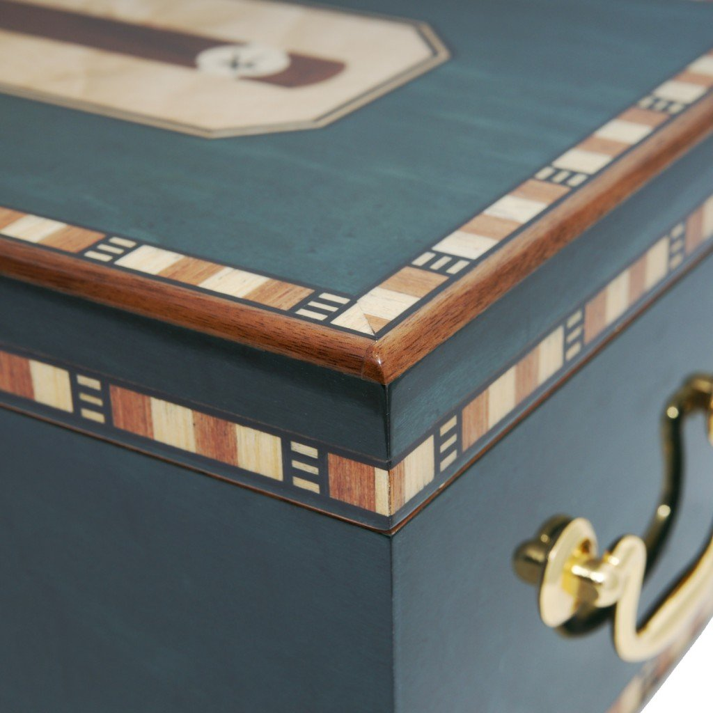 Cigar Star Cigar Humidor Limited Edition Blue Havana SPECTACULAR Details. by Cigar Star (Image #7)