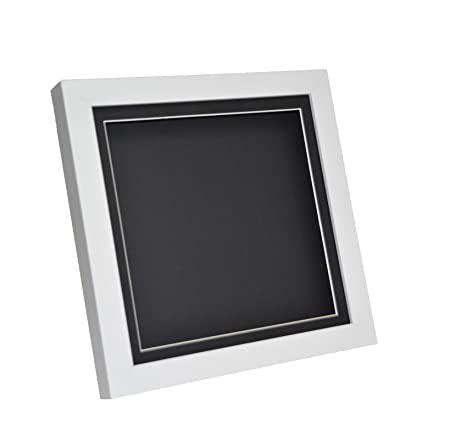 White 3d Deep Box Picture Frame Display Memory Box For Medals