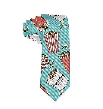 GZOSWLGS Corbata de palomitas de maíz para hombre Corbata Corbata ...