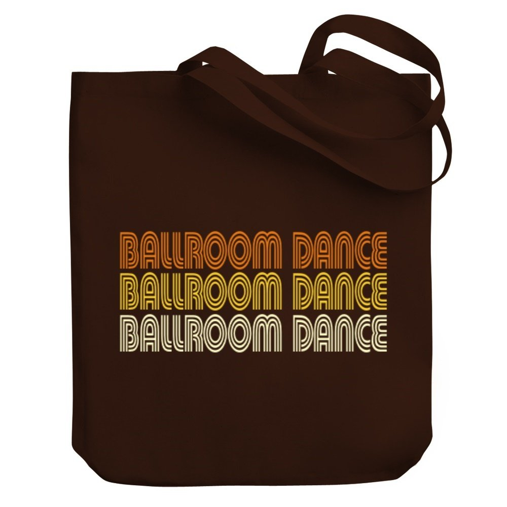Teeburon Ballroom Dance RETRO COLOR Canvas Tote Bag