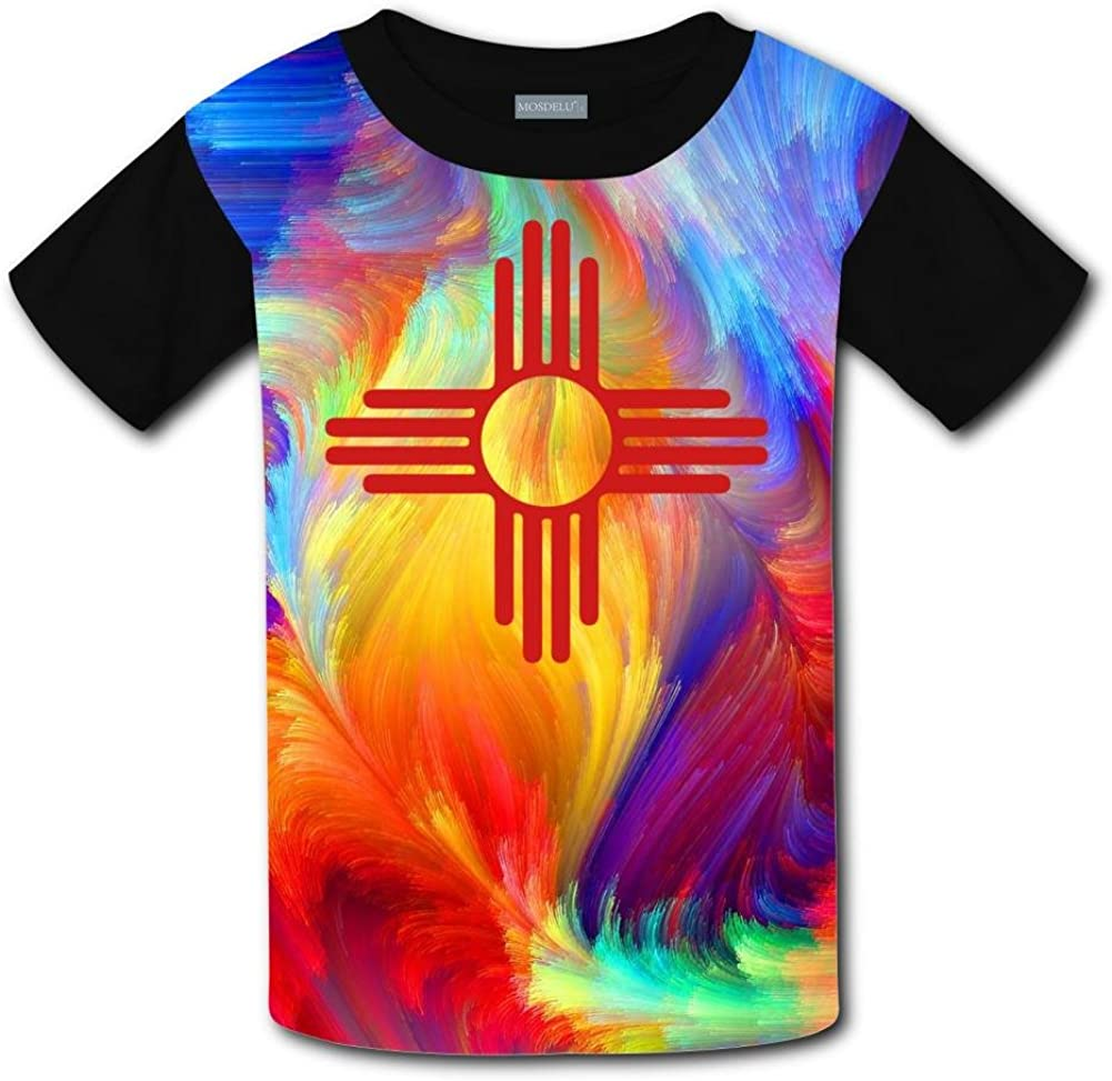 Elcacf Kids//Youth New Mexico T-Shirts Short Sleeve Children Tees
