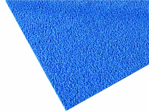 (M+A Matting 437 Blue Vinyl Loop Frontier Scraper Mat, 3' Length x 2' Width, for Indoor/Outdoor )