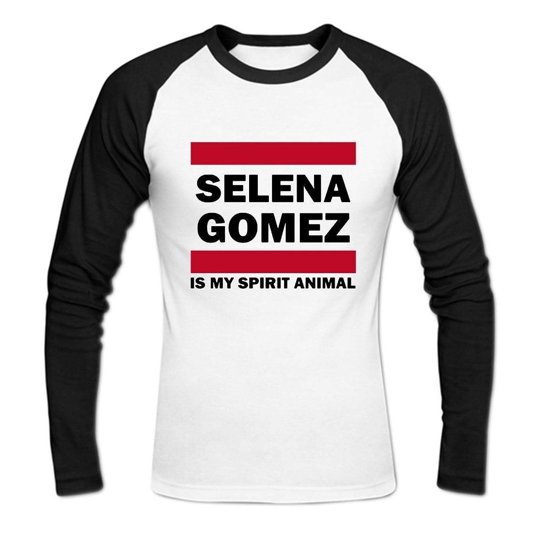 Selena Gomez is My Spirit Animal Mens Baseball Shirts