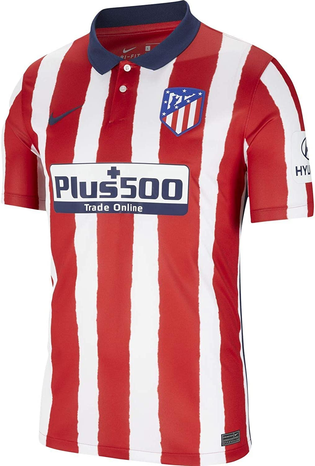 Nike 2020-2021 Atletico Madrid Home Football Soccer T-Shirt Jersey