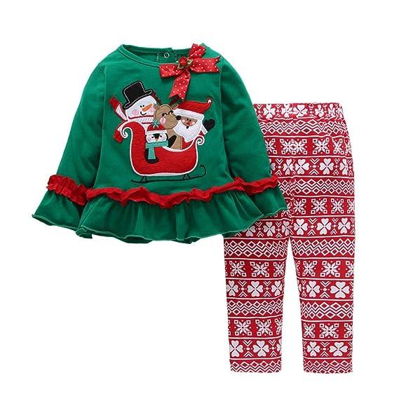 Ropa Bebe Recién Nacido, 🌈 Btruely Camisa Blusa Conjunto Mameluco y Pantalones Mono Bebe niña Unisex Manga Larga Regalo Navidad Bebe Pijama Navidad: ...