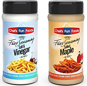 Chef's Fun Foods - Gourmet Fries Seasoning & Rub Mix | Kosher Food for Restaurants and Home Cooks | No MSG or Fillers | Great for Fried Foods, BBQ, Chicken Wings & More… (Combo)