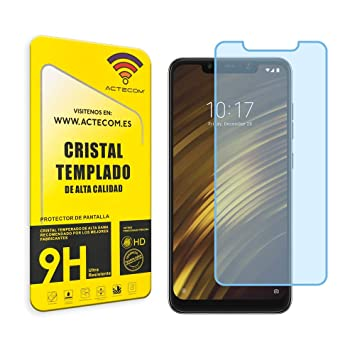 actecom® Cristal Templado Protector Pantalla 0.2MM para POCOPHONE ...