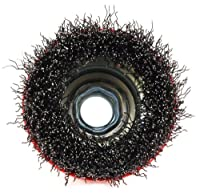 Forney 72755 Wire Cup Brush, Coarse Crimped with 5/8-Inch-11 Threaded Arbor, 2-3/4-Inch-by-.014-Inch