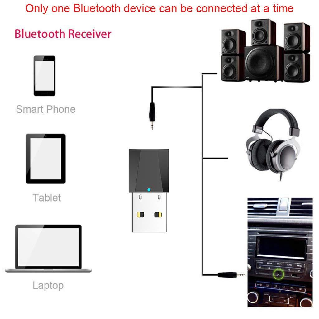 Ricevitore audio stereo wireless Bluetooth da 3,5 mm per auto con altoparlante AUX WEISHAZI