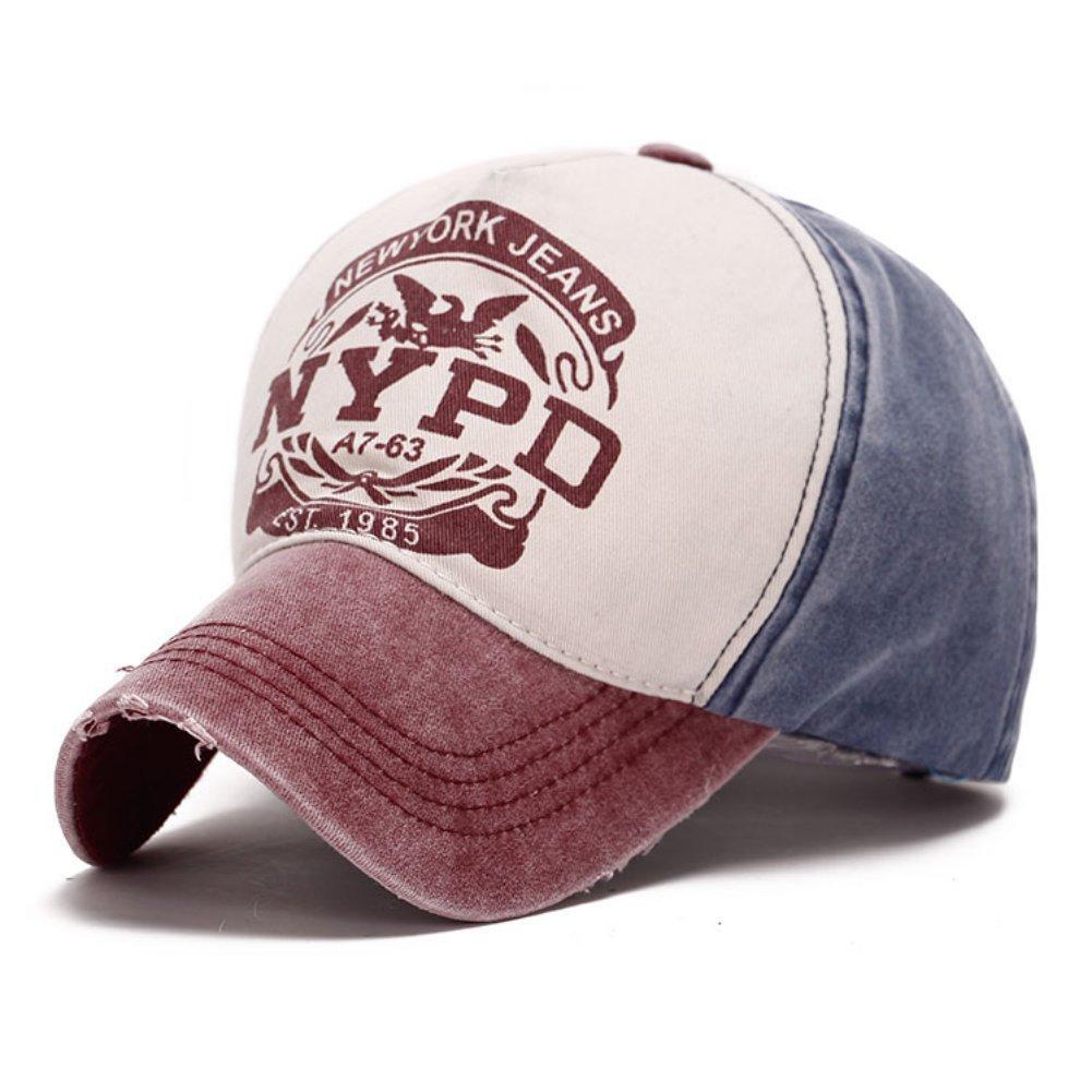 Balai revestimiento de hombre/mujer algodón Visera NYPD Sombreros ...