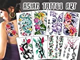 Asian Art Temporary Tattoos Package