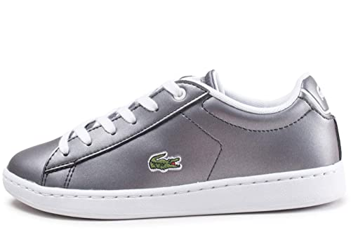 83255c5c Lacoste Carnaby Evo 218 Junior Kids Girls Trainer Shoe Gunmetal Grey ...