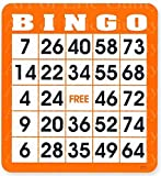 1/2 Sheet - Orange Bingo Card Birthday - Edible Cake/Cupcake Party Topper