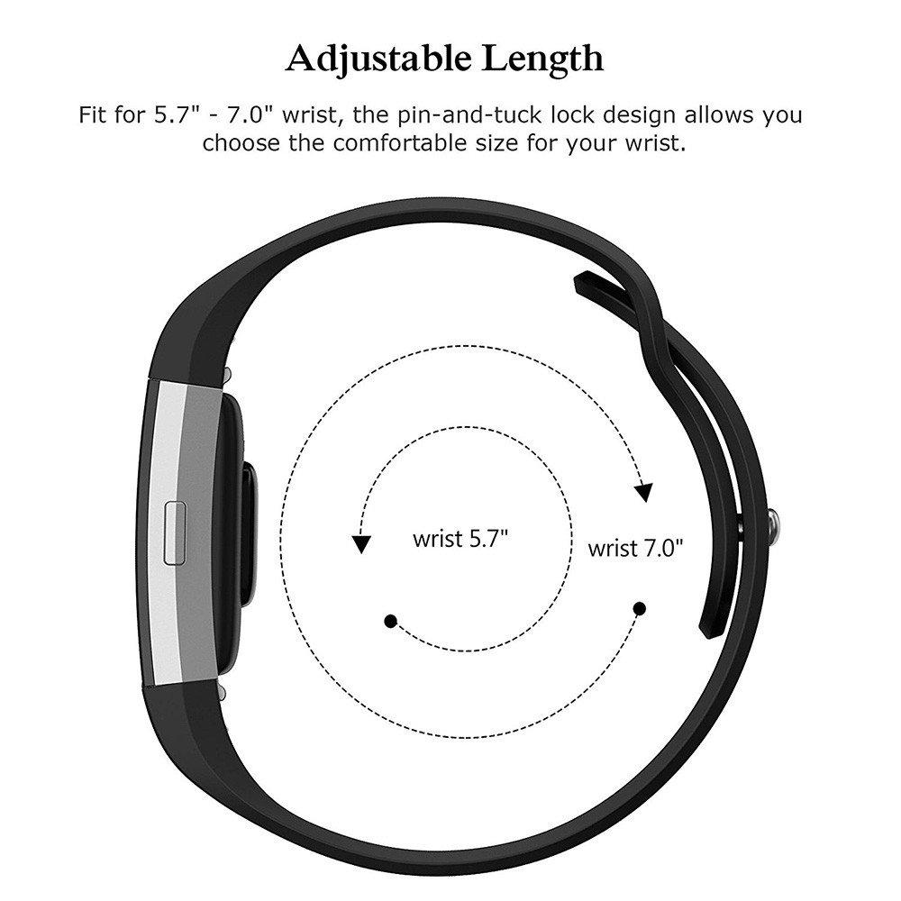 Accessoires Chargeurs samLIKE 丨 丨 de Rechange pour Fitbit Charge 2Bracelet en Silicone 丨 丨 Respirant Dalle Design 丨 Montre Bracelet 丨 215mm x 20mm ❤️ A