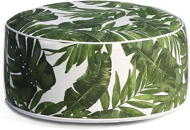 Amazon Com Ove Decors Tropical Green Marlowe Ottoman Garden Outdoor
