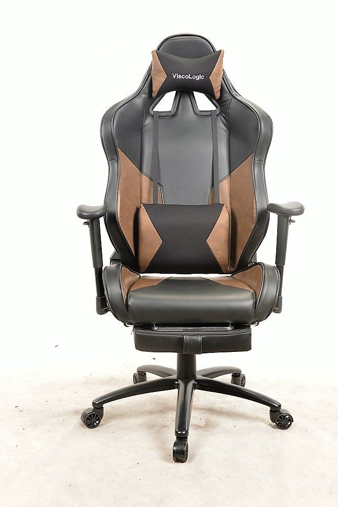 ViscoLogic M2 Ergonomic Gaming Chair for PC Video Game Computer Chair Racing Chairs with Footrest 7608a