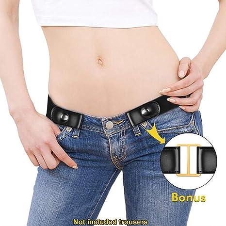 Cinturón elástico sin hebilla, para mujer, hombre ...