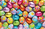 Madelaine Chocolates Easter Eggs - Solid Premium Milk Chocolate Eggs Foiled In A Variety Of Solid and Floral Colors - Traditional Easter Basket Mainstays (1 LB)