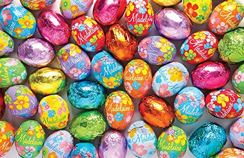 Madelaine Chocolates Easter Eggs - Traditional Easter Basket Mainstays - Solid Premium Milk Chocolate Eggs Foiled In A Variety Of Solid and Floral Colors - 1 LB for $<!--$14.65-->