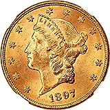 1897 P 20 Liberty Gold Twenty Dollar MS64 NGC