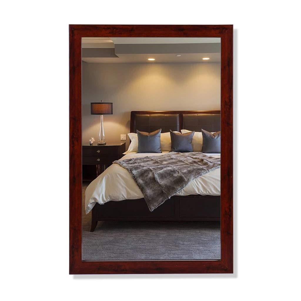 Vintage red 50cmX70cm YYHSND Bathroom Mirror Dormitory Dressing Table Mirror with Frame Wall Mounted Wash Basin Mirror Wall Mirror (color   Vintage red, Size   50cmX70cm)
