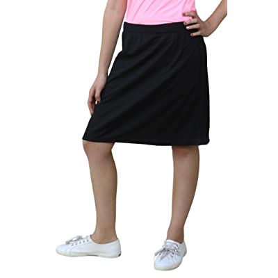 Kosher Casual Women's Running Skirt Sport Tech Fabric with Zip Pockets and Built-in Shorts: Clothing