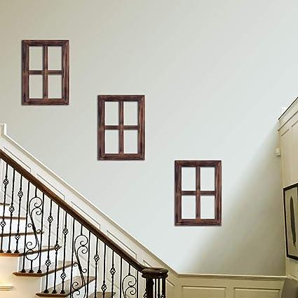 Amazon.com: RHF 4 Pane Rustic Window Frame Wall Decor,Antique Window ...
