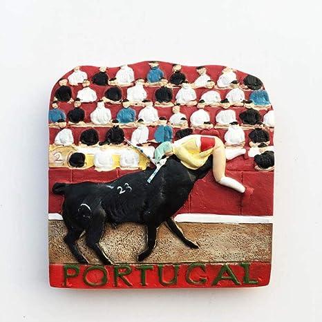 Soode 2 UNIDS Portugués Toros Imanes de Nevera 3D Refrigerador Etiqueta Magnética Decoración del Hogar Recuerdos de Viaje: Amazon.es: Hogar