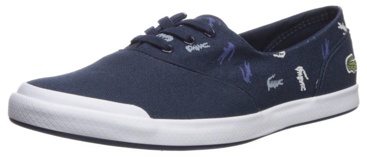 Lacoste Women's Lancelle 3 Eye Sneaker B074ZW81P5 8.5 B(M) US|Navy Logo