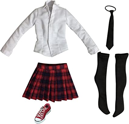 """Black Business Skirt Suit For 1//6 Scale Female 12/"""" Action Figure Phicen BBI"""