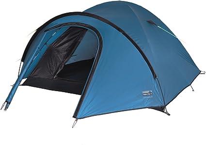 High Peak Kuppelzelt Nevada 3, Campingzelt mit Vorbau, Iglu Zelt für 3 Personen, doppelwandig, 2.000 mm wasserdicht, Ventilationssystem,