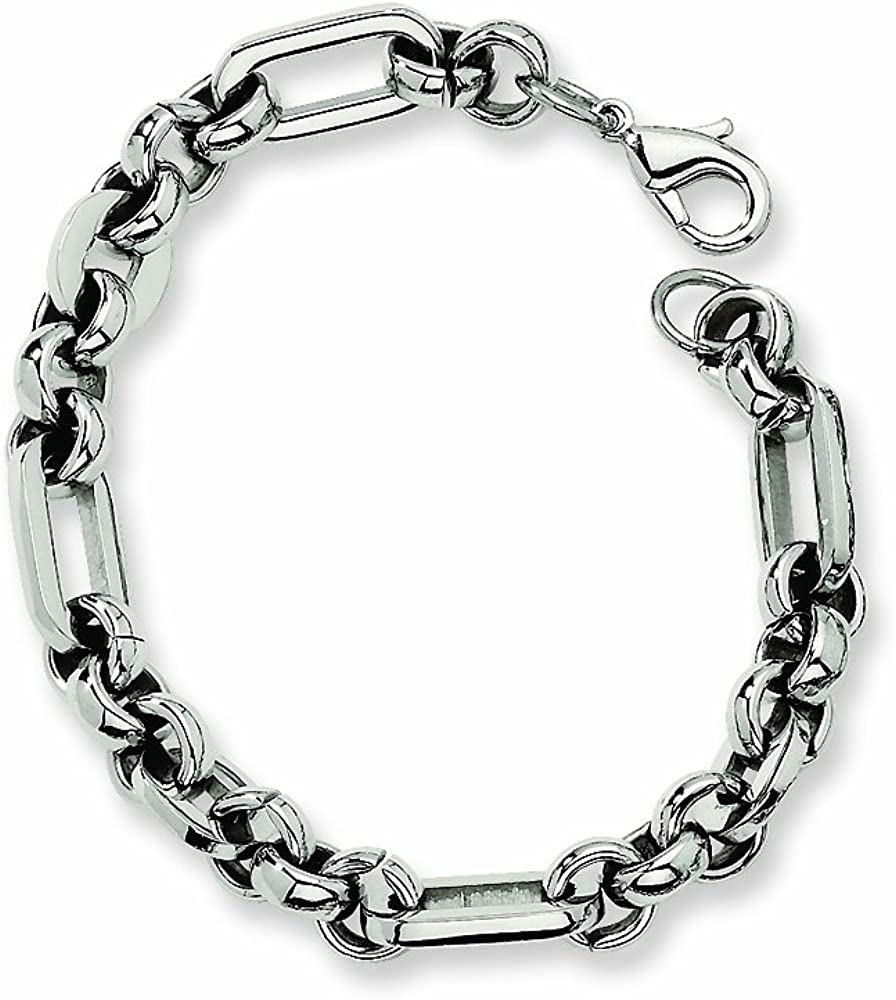 Chisel Stainless Steel Fancy Link Bracelet 7.5 inches