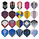 GWHOLE 20 Set (100 Pcs) Standard Slim Dart Flights Dart Accessory for Tip Darts